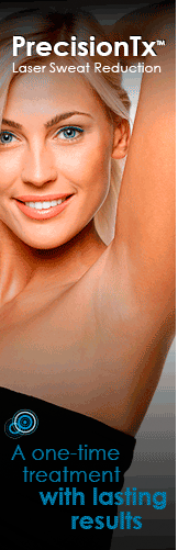 PrecisionTx laser sweat reduction