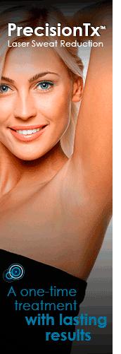 PrecisionTx laser sweat reduction