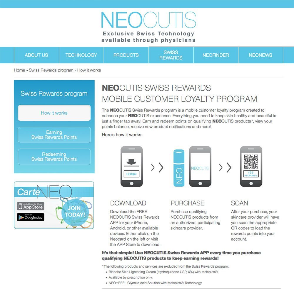 Neocutis Swiss Rewards
