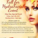 Fall-hydrafacial-event