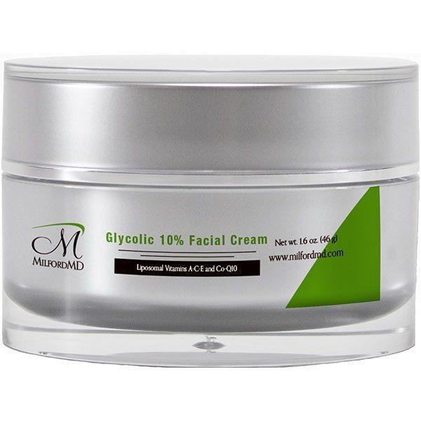 MilfordMD Glycolic 10% Facial Cream