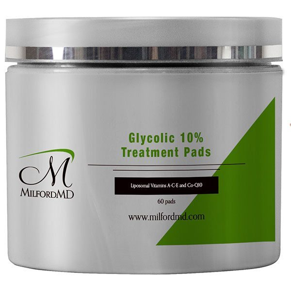 MilfordMD Glycolic 10% Treatment Pads