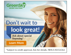 Interest-free financing for cosmetic procedures over $1,000 through GreenSky Credit.