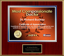 2011 Patients Choice Compassionate Doctor Awarded to Dr. Richard Buckley