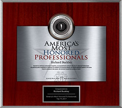 2017 Americas Most Honored Professional Awarded to Dr. Richard Buckley