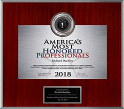 2018 Americas Most Honored Professional Awarded to Dr. Richard Buckley