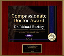2018 Vitals Compassionate Doctor Awarded to Dr. Richard Buckley