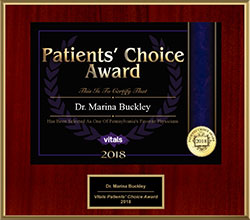 2018 Marina Buckley Vitals Patients Choice Award