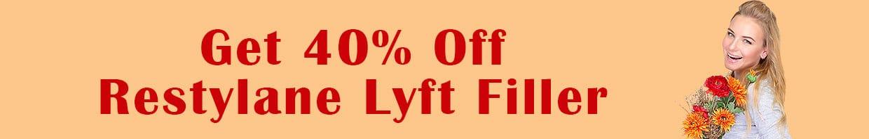 Get 40% Off Restylane Lyft Dermal Filler
