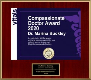 Dr. Marina Buckley Compassionate Doctor 2020
