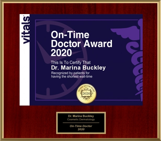 Dr. Marina Buckley On-Time Physician Award - 2020