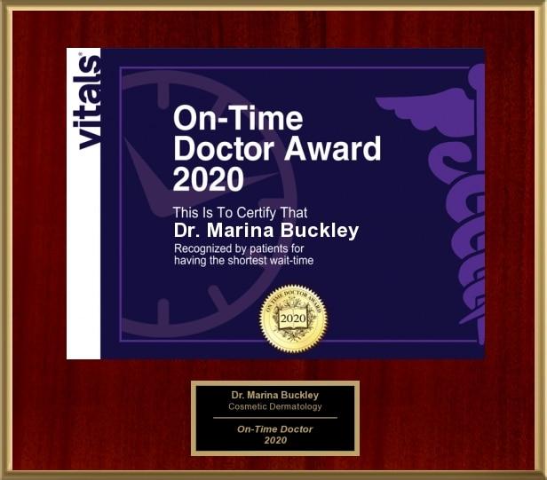 Dr. Marina Buckley On-Time Physician Award - 2020