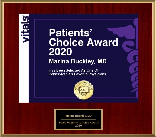 Dr. Marina Buckley Patients' Choice 2020