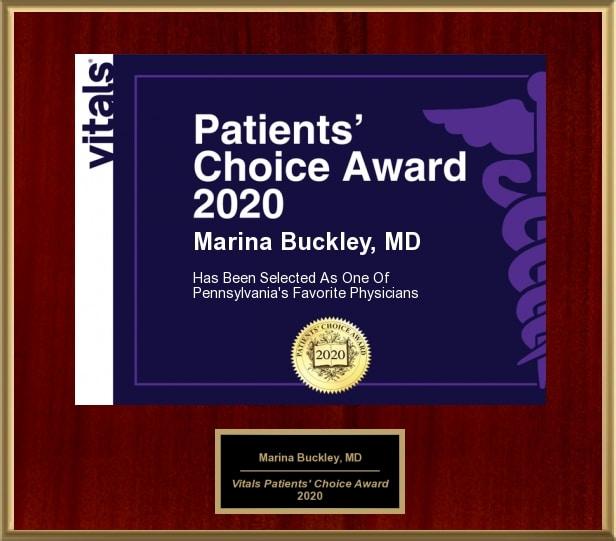 Dr. Marina Buckley Patients' Choice 2020