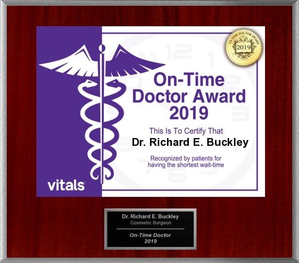 Dr. Richard E. Buckley On-Time Doctor Award 2019